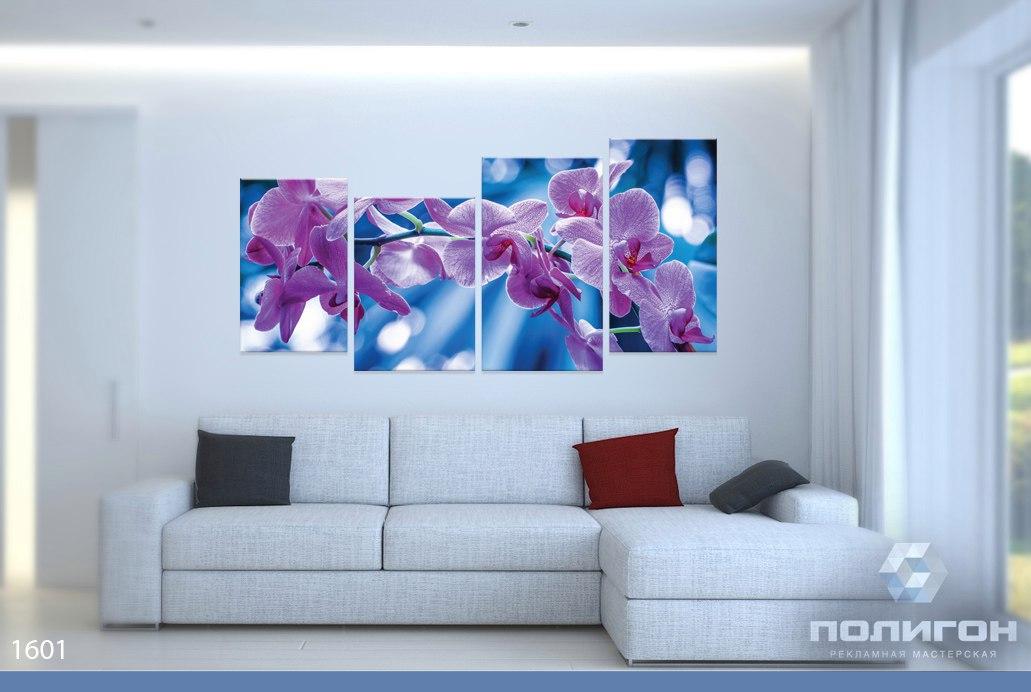 модульные картины фото цветы