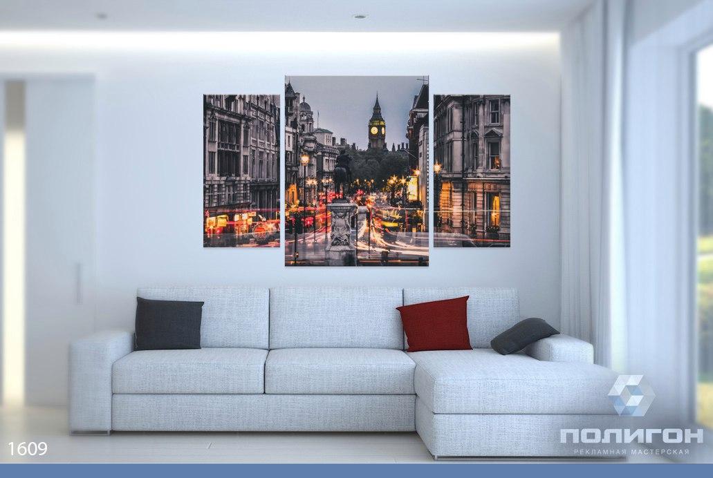 модульные картины фото ночной город