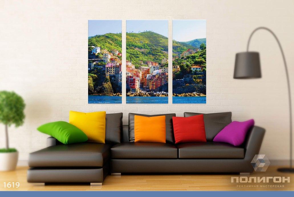 модульные картины фото город