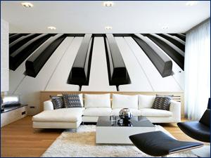 Рисунок обоев в виде клавиш пианино