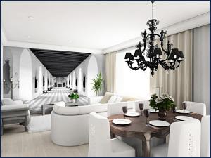 Фотообои увеличивающие комнату в квартире