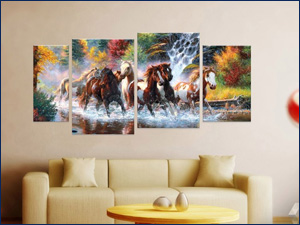 модульные картины фото лошади