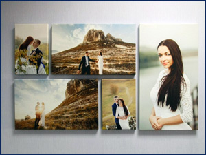 печать фото на холсте свадебные фото