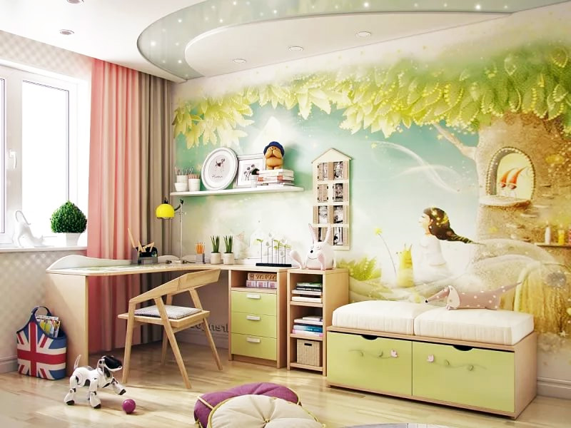 фотообои в детскую комнату для девочки фото